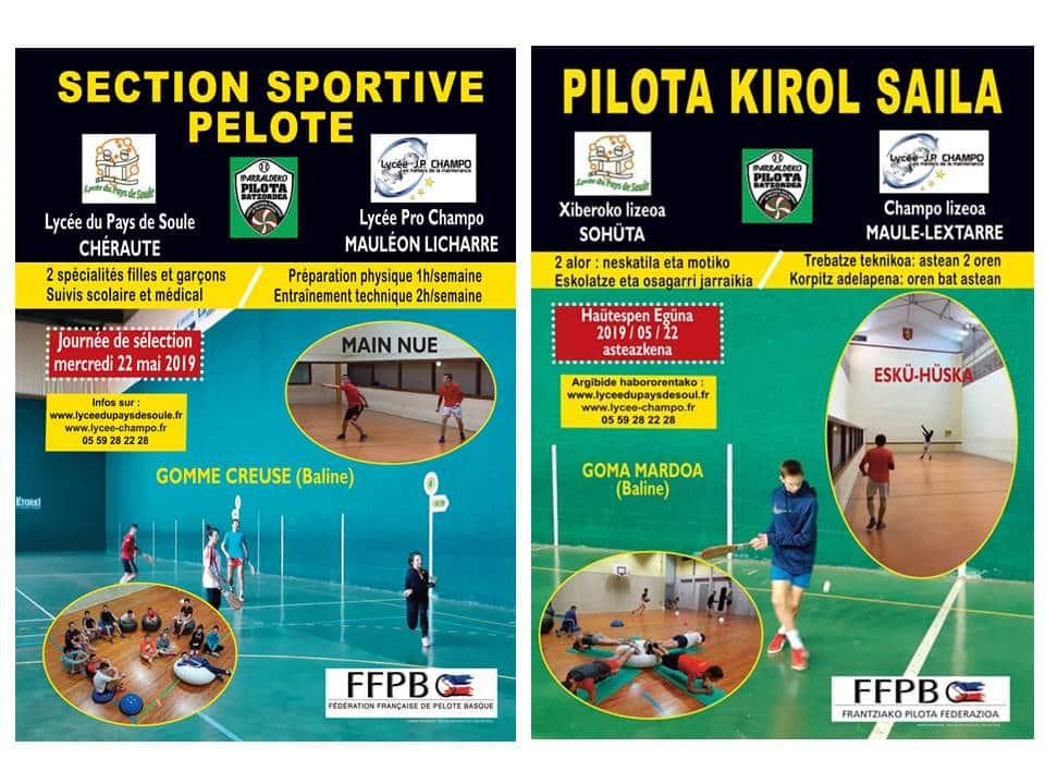 Section sportive Lycée de Soule / Pilota kirol Saila Xiberuan