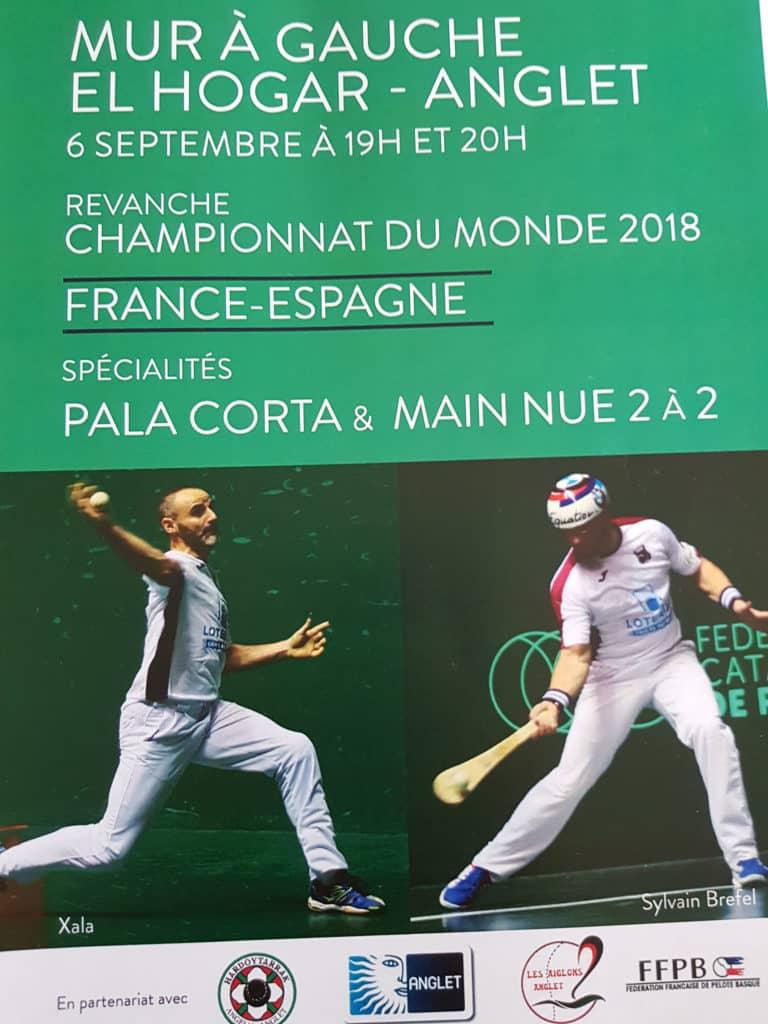 EL HOGAR Anglet/ANGELU - 06/09/2019 - Revanche Championnat du Monde 2018 - France / Espagne