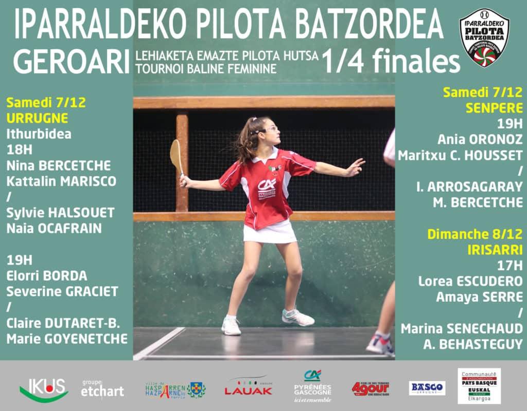 1/4 de finale / Final Laurdenak - PG Creuse Féminine Tournoi GEROARI / Paleta Pilota Hutsa